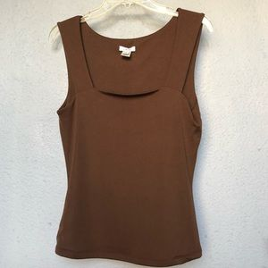 Cache Tank Top in Brown. Size L